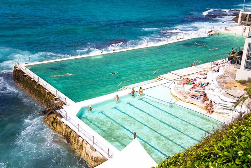 Ein Swimming Pool direkt am Strand des Bondi Beach