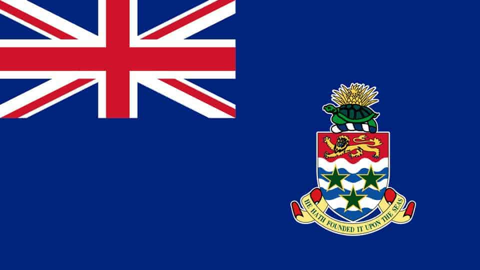 Die Flagge der Cayman Islands