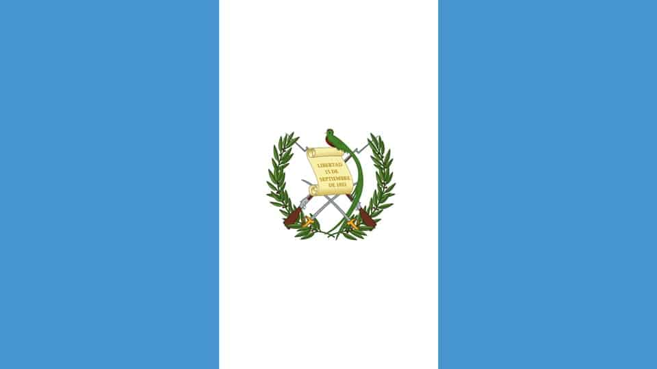 Guatemala Flagge mit Staatswappen